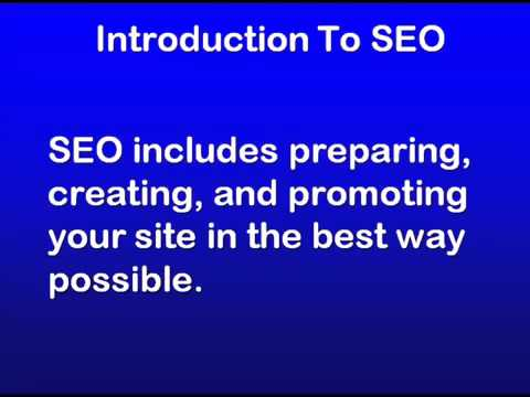 1 - SEO Education 101 Introduction to SEO