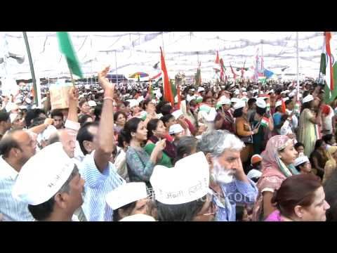 Anna Hazare stronger than the Congress government?