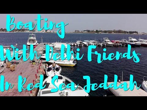 Boating with Delhi Friends in Red Sea, Jeddah Saudi Arabia