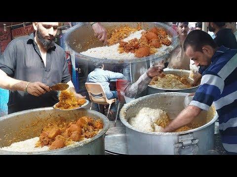 Al-Rehman Biryani Street Food of Karachi Pakistan   People Crazy For CHICKEN BIRYANI.