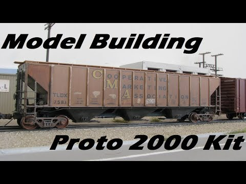 Model Kit Build – Proto 2000 Covered Hopper Model Railroad