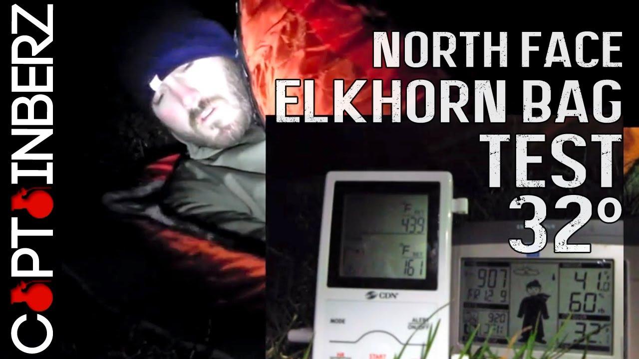 North Face Elkhorn 0 Degree Sleeping Bag Test 32 Degrees