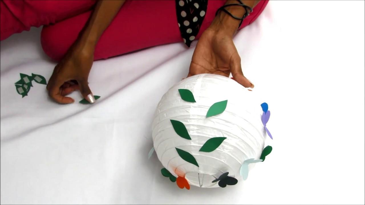 DIY Dica fácil de como personalizar luminária japonesa de papel decoração  de casamento d6bc8bcbd8d