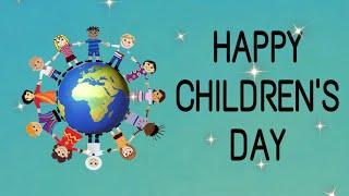 International Children's Day. | Children's Day-  Message! | 20th- November! | Happy Children's Day!