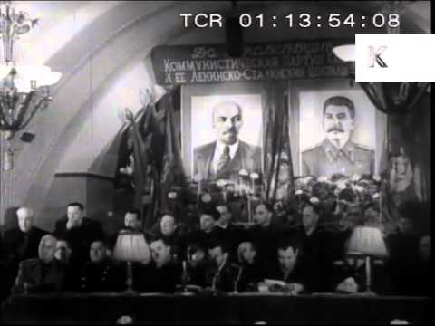 1950s Moscow Underground Metro Station Opening, Soviet Union Archive Footage