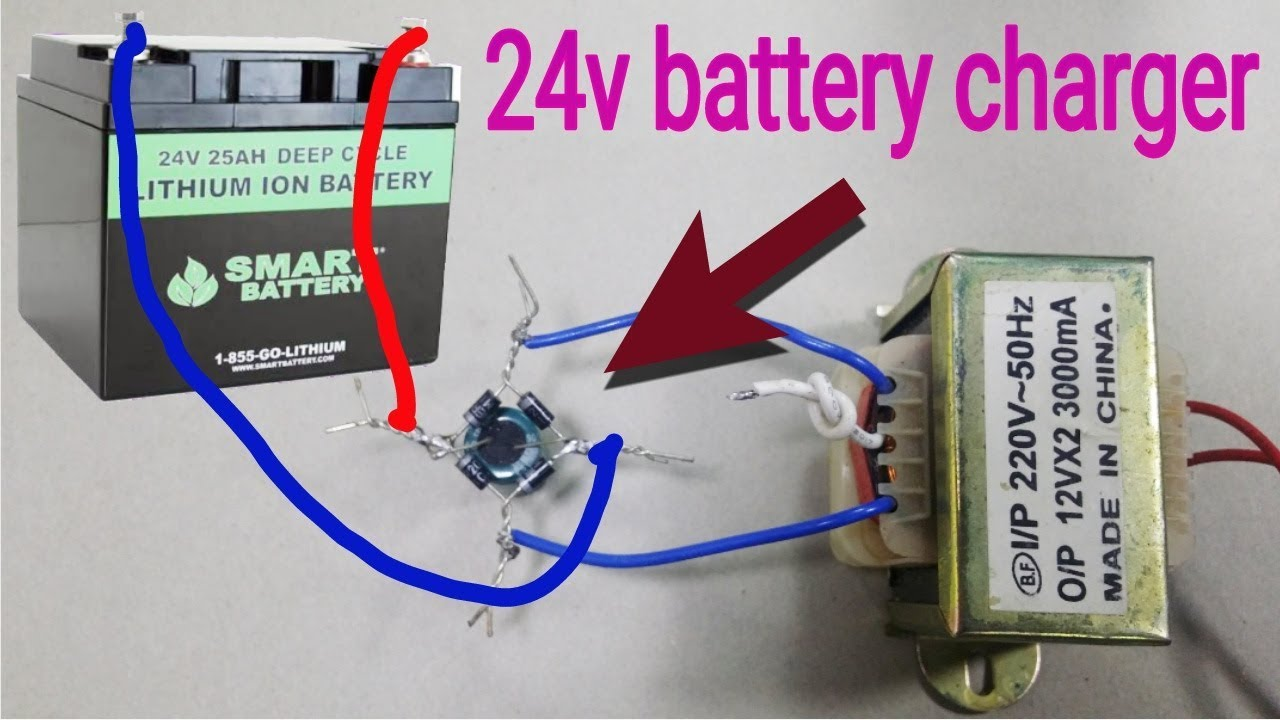 How to make 24 volt battery charger  Vdc Battery Charger Wiring Diagram on