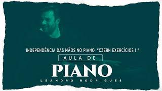 """Independência das mãos no piano """"Czern exercício 1"""""""