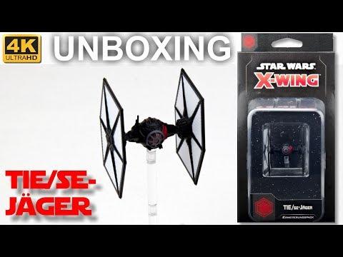 Star Wars X-Wing 2. Edition: TIE/SE-Jäger - WELLE 4 - Unboxing - TIE/sf Fighter (4K)