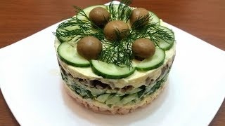 """Салат """"Курочка Ряба"""". Салат для праздничного стола- Ани Кухня!"""