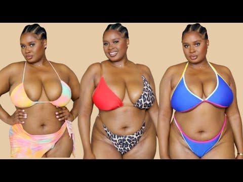 Curvy + Plus Size Shein Bikini Try On Haul