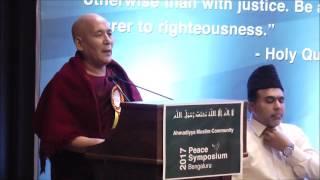 Venerable Kassapa Mahathera at Bangalore Peace Symposium 2017 by Ahmadiyya Muslim Community