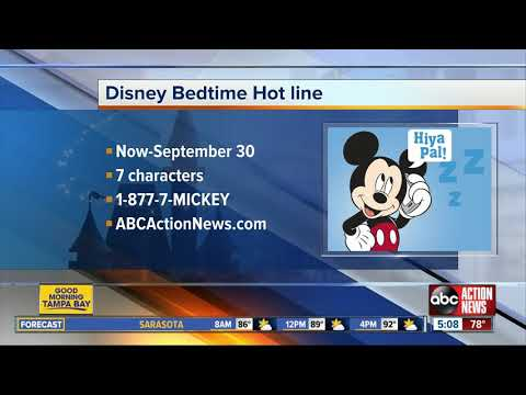 Send your kids off to bed with 'Disney Bedtime Hotline'