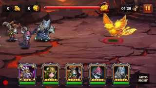 Heroes Charge Outland Portal: Burning Phoenix [Difficulty VI] with Magic Team using WD