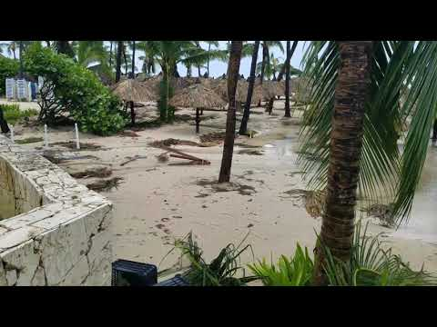 Beach Damage after Hurricane Maria 2017 in Bavaro Punta Cana, Dominican Republic