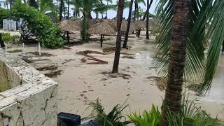 Beach Damage after Hurricane Maria 2017 in Bavaro Punta Cana, Dominican Republic