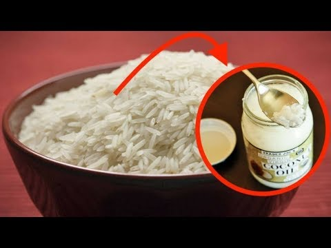 How to Cook Rice With Coconut Oil to BURN More Fat and Cut Calories by 50%