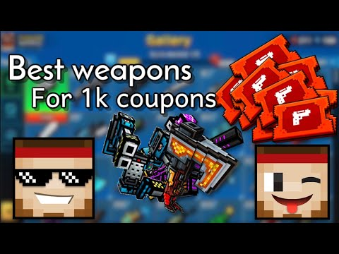 Best Weapons To Buy With 1000 Coupons | Pixel Gun 3D