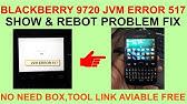 Cara Mengatasi JVM Error 545 Pada Blackberry - YouTube