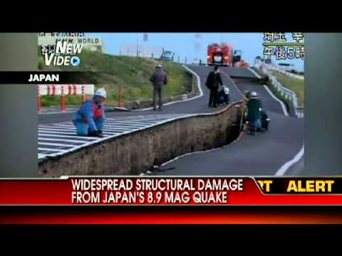 NEW VIDEO: Road Split in Half by Earthquake