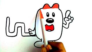How To Draw | Coloring Cartoon Character Red Idea Wubbzy From Wow Wow Wubbzy | Colours for kids