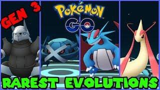 RAREST EVOLUTIONS in Pokemon GO GEN 3! METAGROSS, SALAMENCE, MILOTIC, AGGRON + MORE!