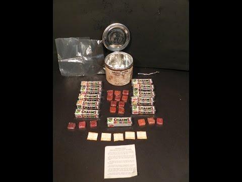 1967 Survival Ration Vietnam War-Era Opening/Review + Taste Test MRE Vintage Old Candy Charms
