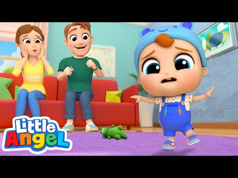 Baby's First Steps! | Little Angel Kids Songs & Nursery Rhymes