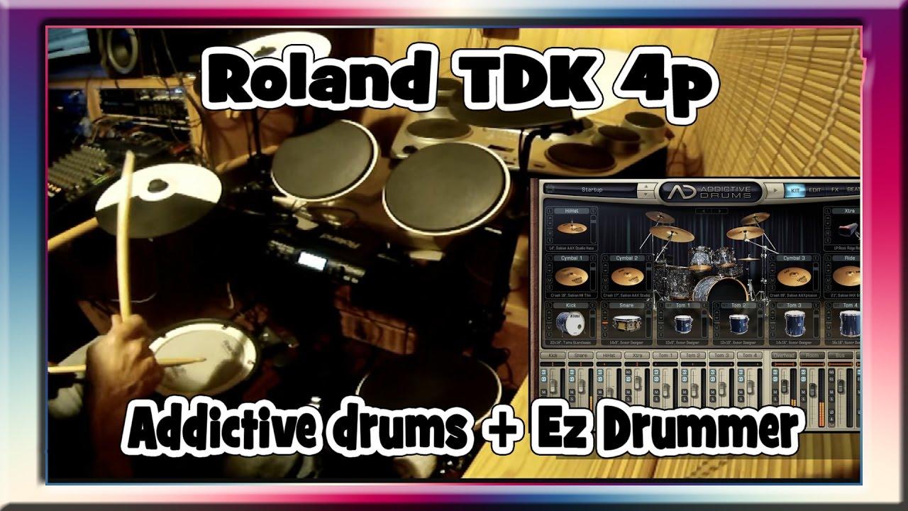 roland td 4kp ezdrummer addictive drums bateria electr nica primer test drums portable. Black Bedroom Furniture Sets. Home Design Ideas