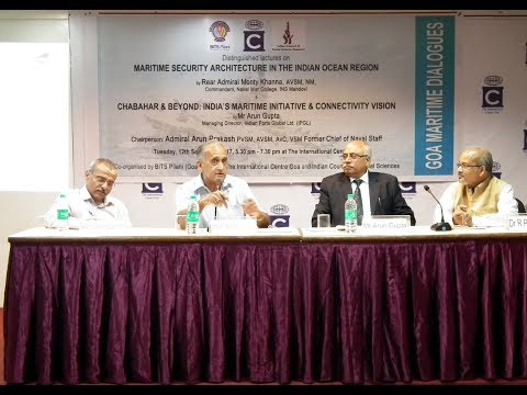 """Goa Maritime Dialogues: Distinguished Lectures on """"Maritime Security & Connectivity"""""""