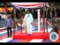 President Weah Inspects Troops and Honors the National Colors