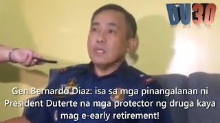 Gen.  Diaz: Takot kay President Duterte  kaya mag e early retirement na!!