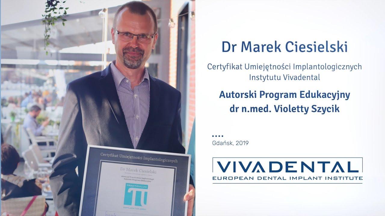 Dr Marek Ciesielski na fali Practiculum Implantologii