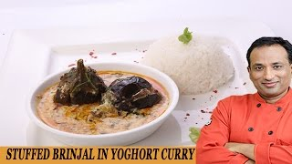 Stuffed Brinjal in Yogurt Curry..