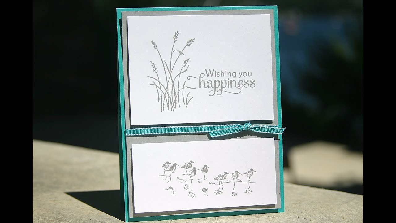 Stampin' Up Birthday Card using Wetlands - YouTube
