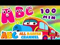 Download ABC Train Song | ABC Songs for Children & Nursery Rhymes | 100 Minutes Compilation for Kids MP3 song and Music Video
