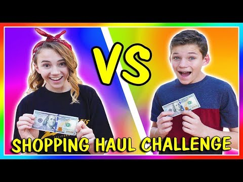 sis vs bro teen shopping challenge – Shopping time