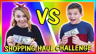 $100 TEEN SHOPPING HAUL CHALLENGE AT THE MALL | We Are The Davises