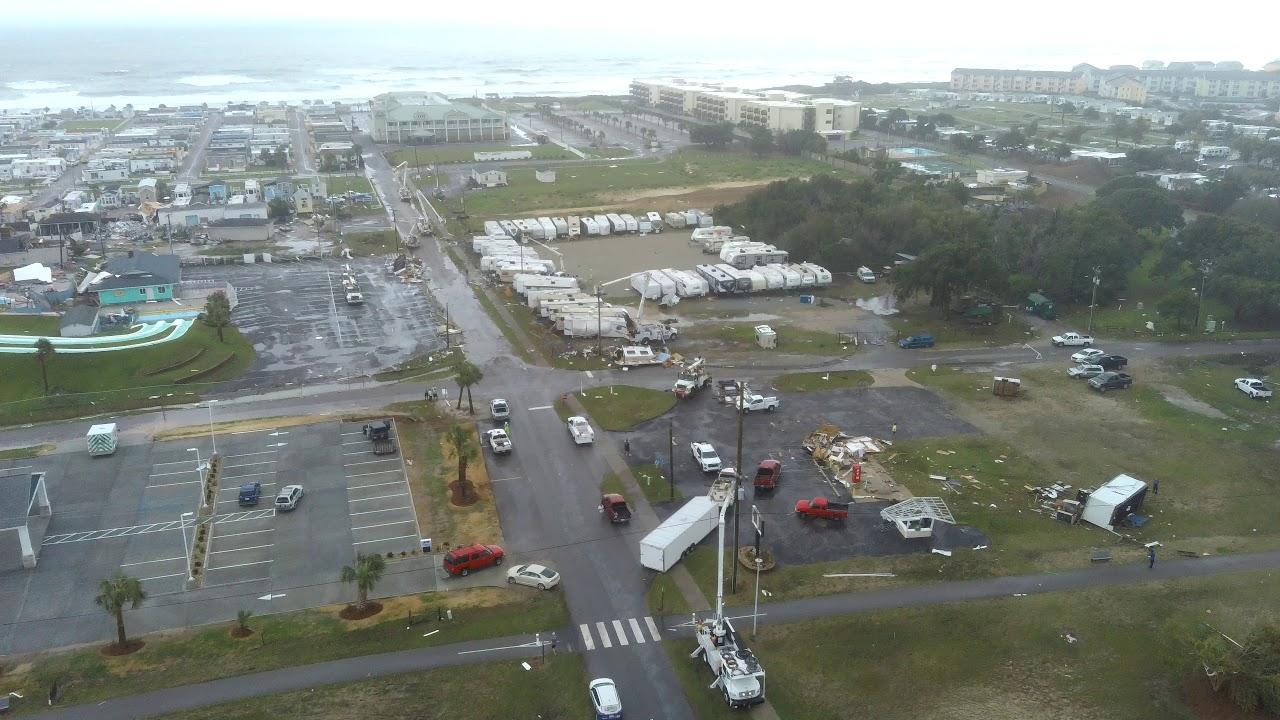Hurricane Dorian: Drone videos over Emerald Isle show