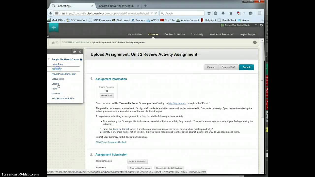 Blackboard Overview For Students Youtube