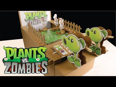 How to Make Plant vs Zombie game from Cardboard diy