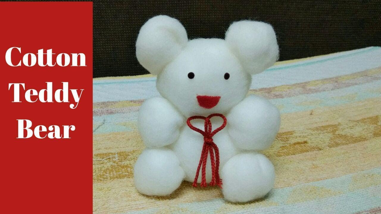 Download 2 minutes cotton Teddy bear making // how to make cotton toy teddy bear //soft toy teddy making