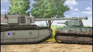 3 min of INSANE TANK FIRE !!!(Girls und Panzer Das Finale to S1 ガールズ&パンツァー) Headphone on!