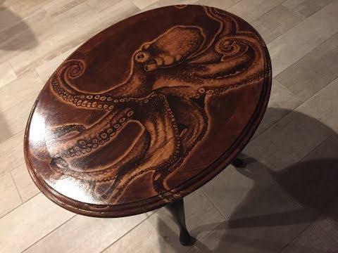 Octopus Stain Art Table - by Karen Governale