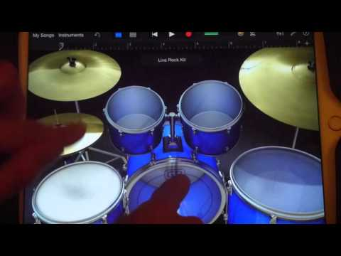 back in black AC/DC  ipad drum cover