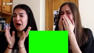 Two Girls Crying Reaction Meme GreenSreen template