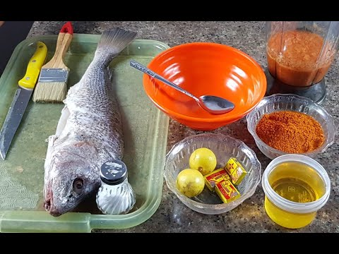 Download Delicious Grilled fish/CROAKER FISH/Nigerian FOOD/Barbecue Fish