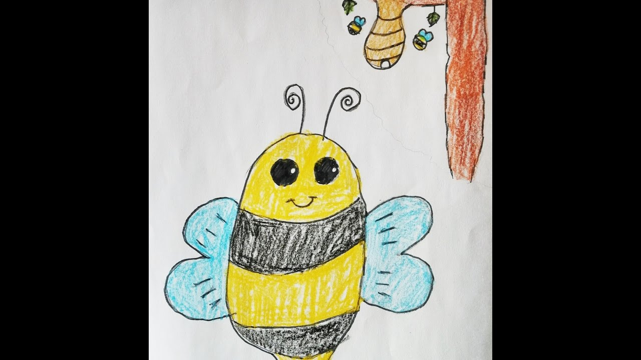 8 year old girl teaching quothow to draw a honeybeequot for kids