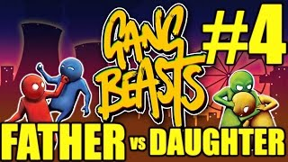 Gang Beasts Gameplay Father vs Daughter #4 - Out of my Store (PC)