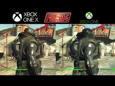 Fallout 4 Xbox one X vs Xbox one S Side by side comparison 4k