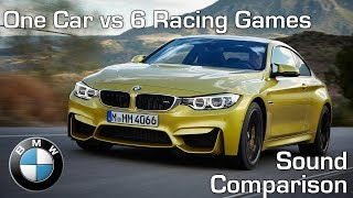 BMW M4 - Real Life vs 6 Racing Games - Sound Comparison